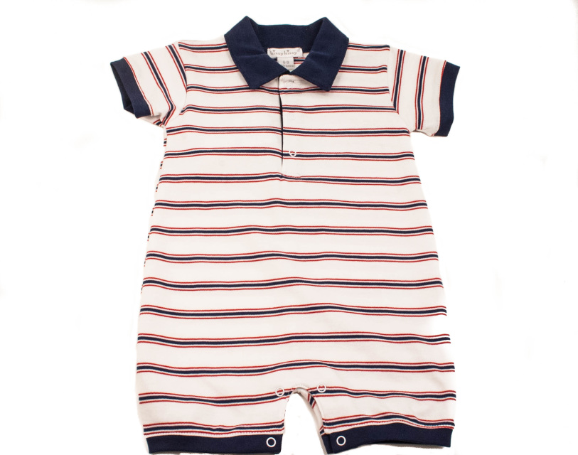 0ddfdfe6807e Kissy Baby Boy Romper Red White   Blue